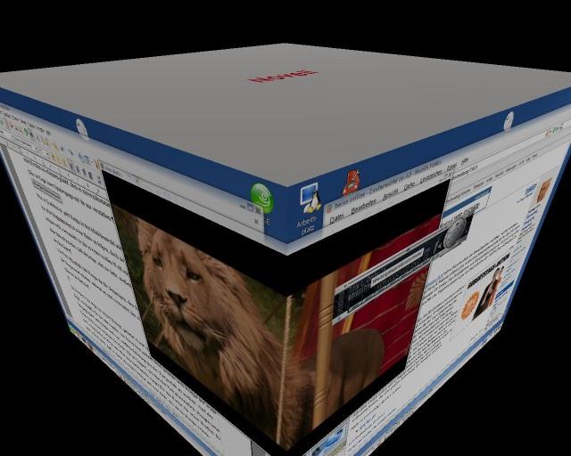 Der Desktop ist ein Würfel